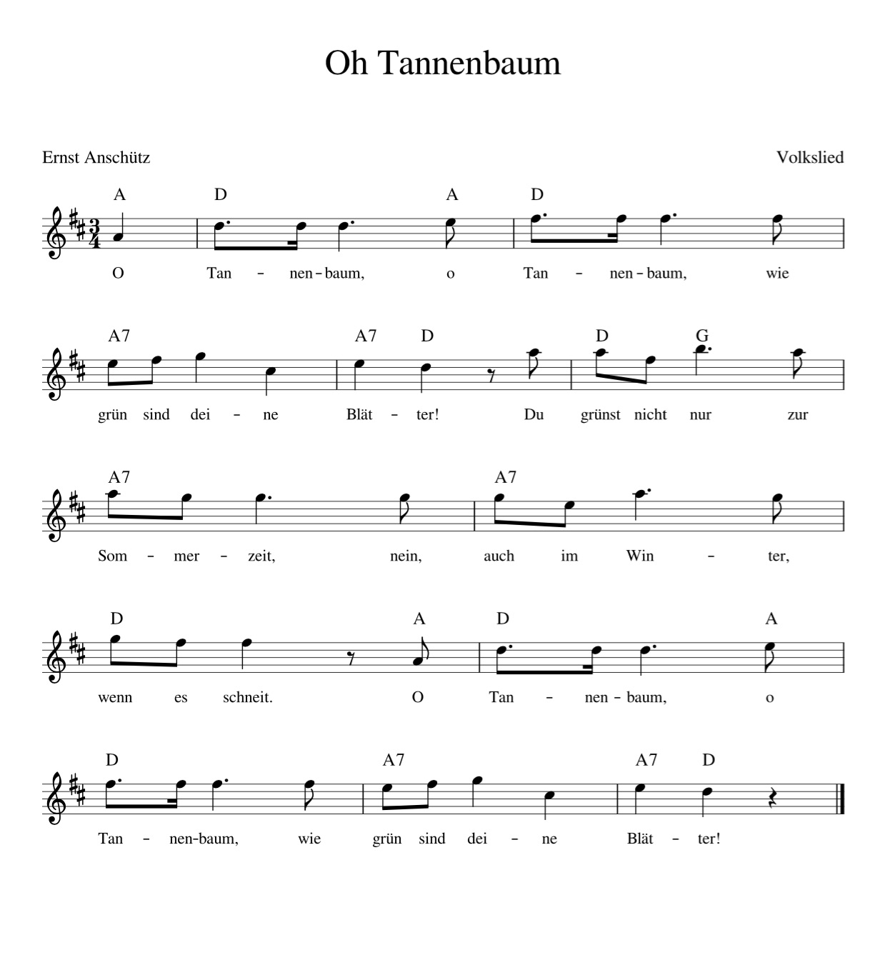 Lied Oh Tannenbaum Text.O Tannenbaum Kinderlieder Noten Text Kinderlieder Zum