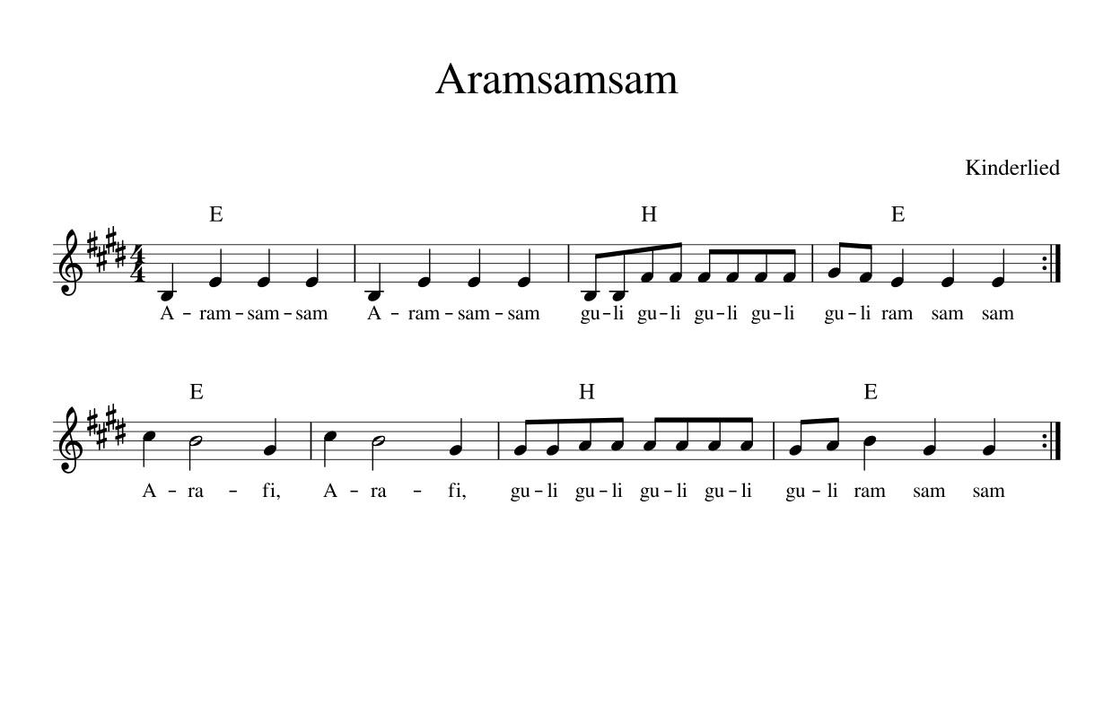 Lied Aram Sam Sam